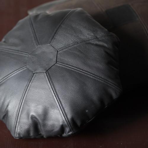 подушка восьмигранная, кожа
