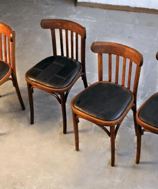 стулья светлые, 50-ые годы 20 в, дуб, кожа.