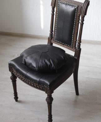 стул-кресло, сер.19 в,дуб, кожа