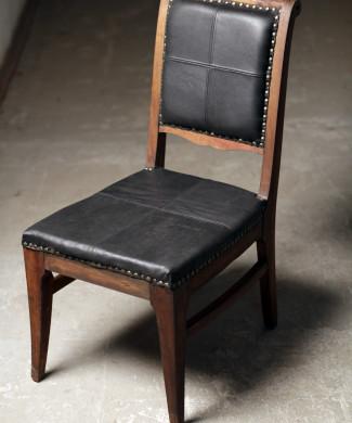 стул-кресло, 50 годы 20 века, дуб, кожа