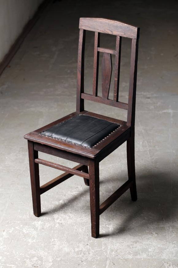 стул 50 г 20 в, дуб, кожа