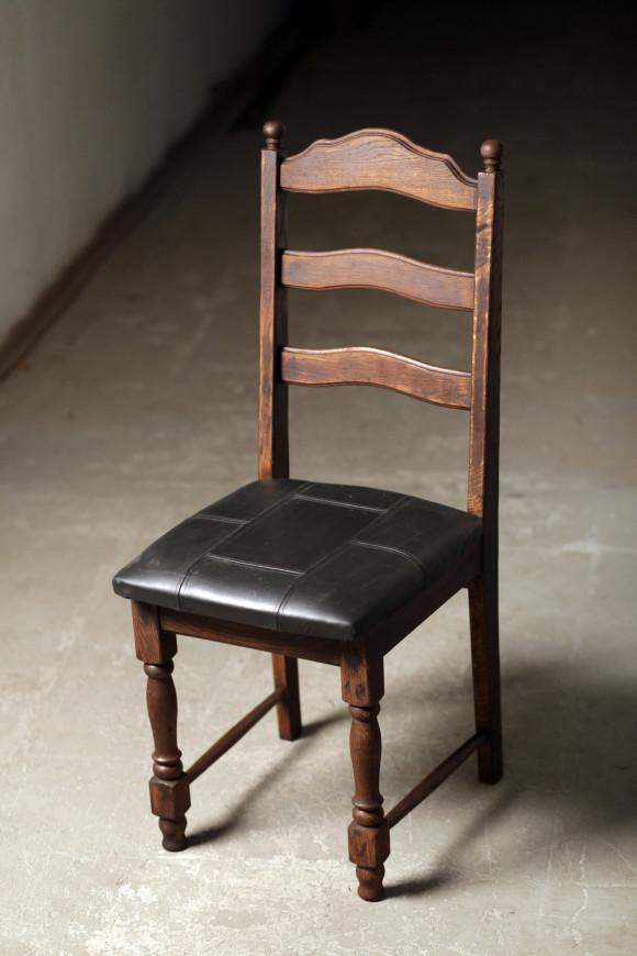 стул, 60 г 20 в, дерево, кожа